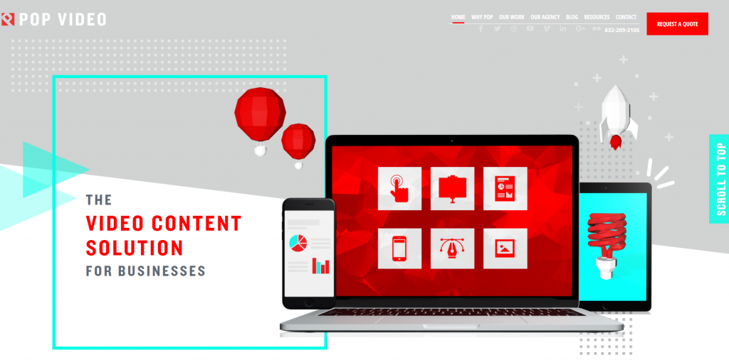 Pop Video homepage