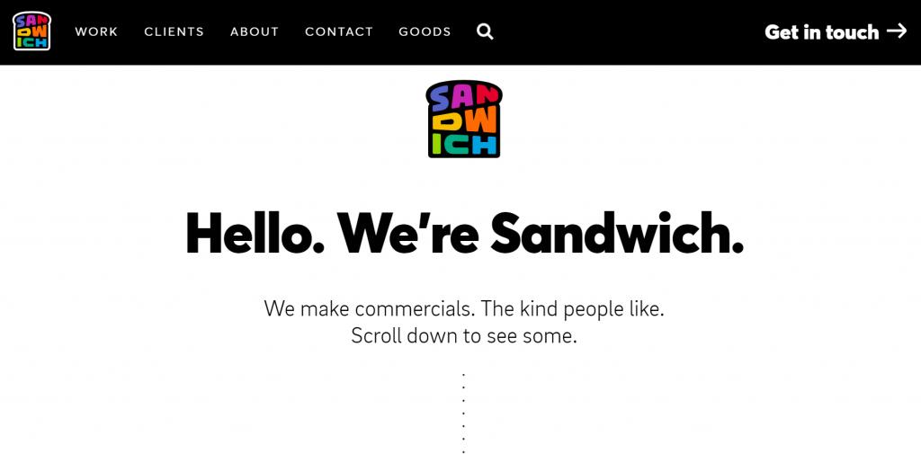 Sandwich homepage