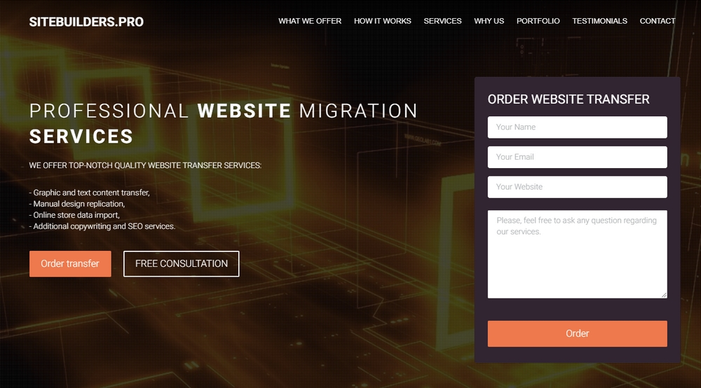 Sitebuilders.PRO website