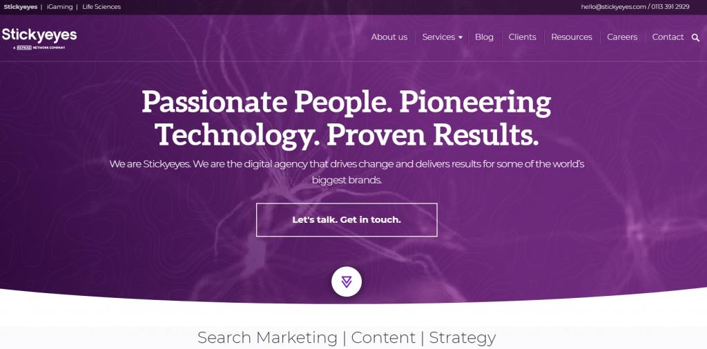 Stickyeyes homepage