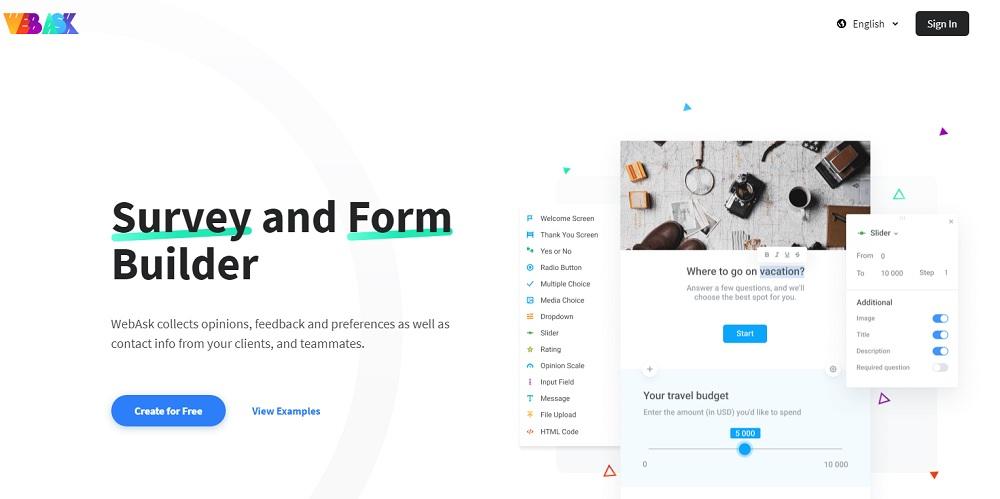 Webask website
