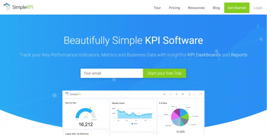 SimpleKPI homepage